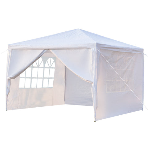 3X3M Outdoor Canopy Tent Gazebo,  Portable for Home, Wedding, Party, Barbecue,  Waterproof Tent with Spiral Tubes