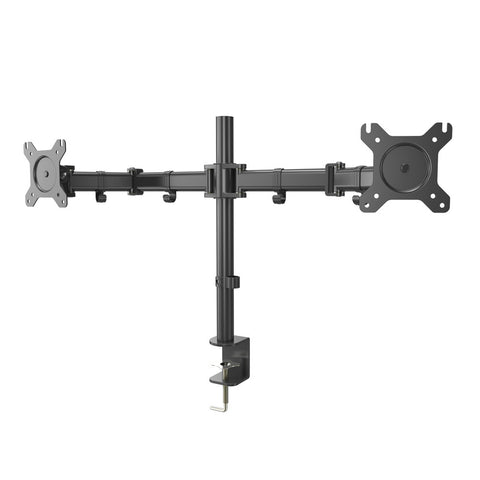 "Dual LCD LED Monitor Desk Mount Heavy Duty Fully Adjustable Fits 2/Two Screens up to 27"" for Home and Office - Sculptcha"