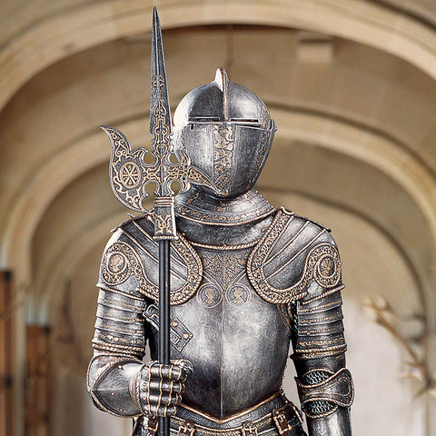 Italian 16th Century Medieval Suit of Armor Knight Statue - Sculptcha
