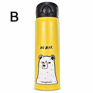 La Maison du Bambou 350ML / Jaune ours blanc Gourde isotherme Ours