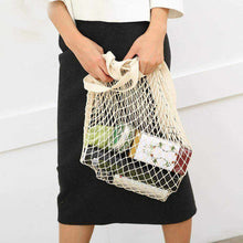 Charger l'image dans la galerie, La Maison du Bambou Noir / United States Reusable Fruit Shopping String Grocery Shopper Cotton Tote Mesh Woven Net Shoulder Bag Mesh Net Shopping Bag High Quality