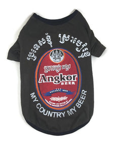 Beer Dog Tee, Angkor Beer, Cambodia, size Large