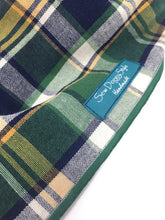 Load image into Gallery viewer, Green Plaid Dog Bandana