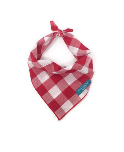 Red Gingham Dog Bandana