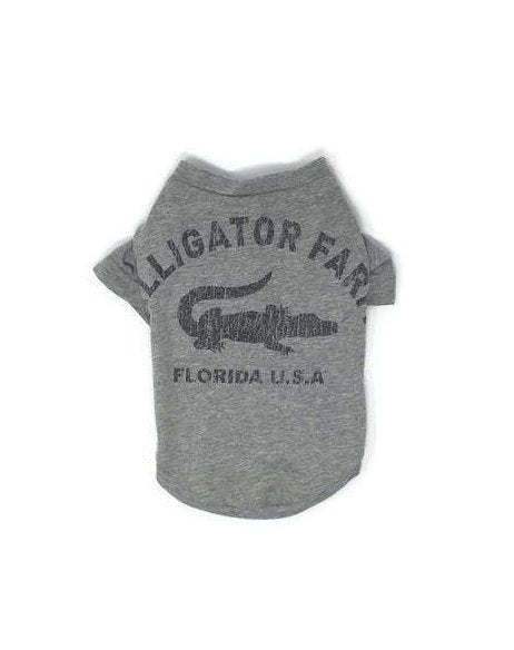 Alligator Farm Dog Tee, Florida Dog Tee, size Medium