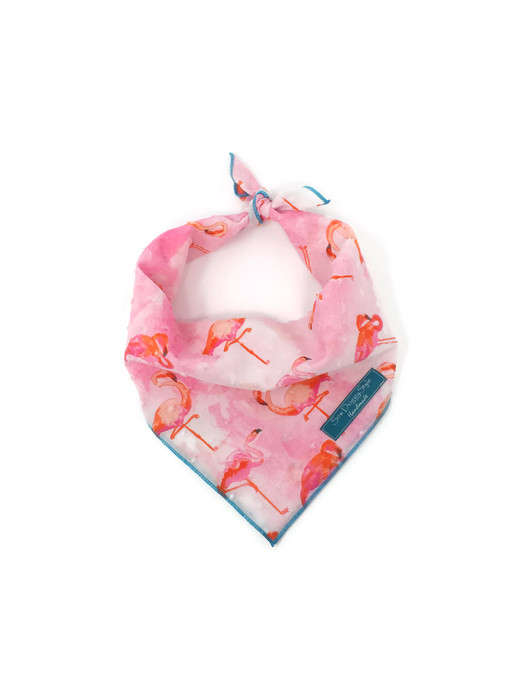 Welcome To Miami Bandana, Flamingo Bandana, Dog Bandana, Watercolor, Flamingo Theme