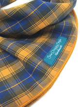 Load image into Gallery viewer, Orange and Blue Plaid Bandana, Dog Bandana, Summer Plaid