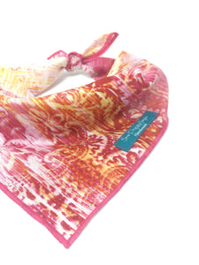 Boho Pink and Orange Bandana, Pink and Orange, Dog Bandana, Bohemian