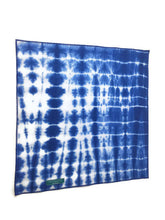 Load image into Gallery viewer, Indigo Shibori Dog Bandana with Blue Trim