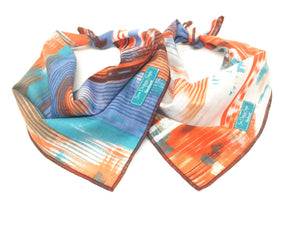 Earth Dog Bandana - White/Orange option