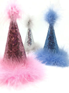 Blue Sequins Dog Birthday Hat