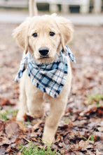 Load image into Gallery viewer, Red White and Black Plaid Flannel Fray Dog Bandana