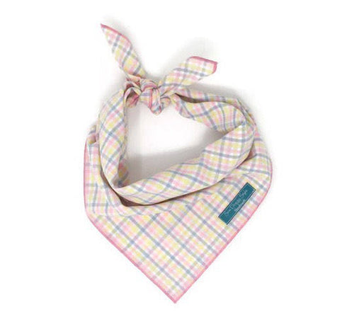 Easter Plaid Dog Bandana