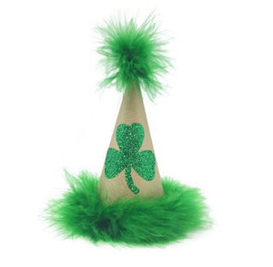 Shamrock Green Party Hat, St. Patrick's Day Hat, Green Party Hat, Green and Gold
