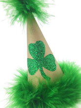 Load image into Gallery viewer, Shamrock Green Party Hat, St. Patrick's Day Hat, Green Party Hat, Green and Gold