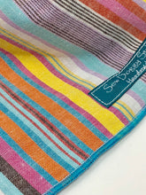 Load image into Gallery viewer, Summer Vibes Bandana, stripe bandana, Dog Bandana, Bohemian, Pastel Stripes, Unisex Dog Bandana