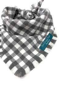 Gray Areas Flannel Fray Dog Bandana