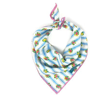 Load image into Gallery viewer, Special Edition Dog Bandana, Floral Bandana, Stripe Bandana, Vintage Bandana