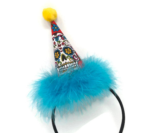Day of the Dead Party Hat on Headband