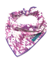 Load image into Gallery viewer, Pink and Purple Boho Bandana, Boho Accessories, Dog Bandana, pink bandana, purple bandana, tie dye bandana