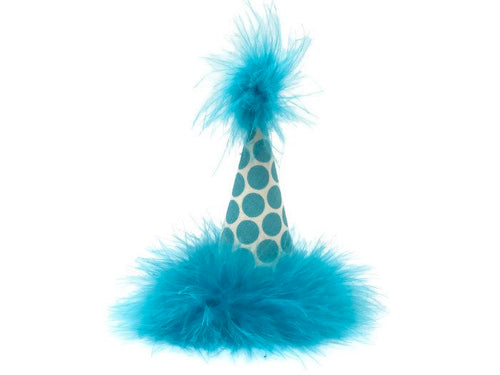 Dog Birthday Hat, Cat Birthday Hat, Polka Dot, Teal, Blue