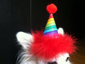 Rainbow Birthday Hat, Rainbow Party Supplies, Dog Birthday Hat, Cat Birthday Hat, Rainbow, Pride
