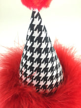 Load image into Gallery viewer, Party Hat, Black and White, Houndstooth