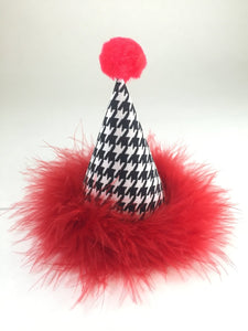 Party Hat, Black and White, Houndstooth