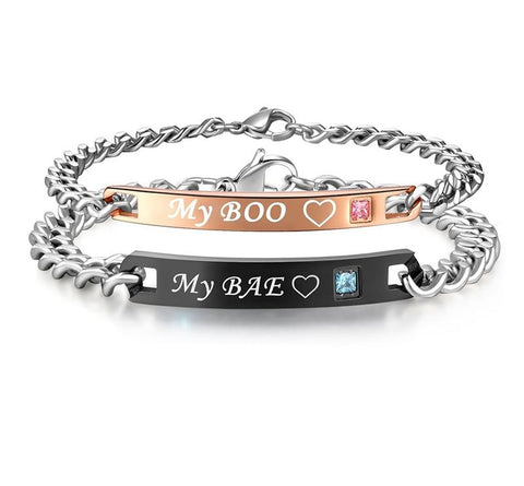 My Boo & My Bae Matchng Couple Bracelets For Women and  Men