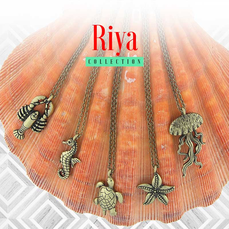 Shop online from Riya collection designed by PETA approved vegan brand LAVISHY for vintage style fashion jewelry features wild lives from mountain to ocean.