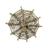 Online shopping for rhodium/gold plated Austrian crystal studded spider brooch. A great gift for you or your girlfriend, wife, co-worker, friend & family. Wholesale available at www.lavishy.com with many unique & fun fashion accessories.