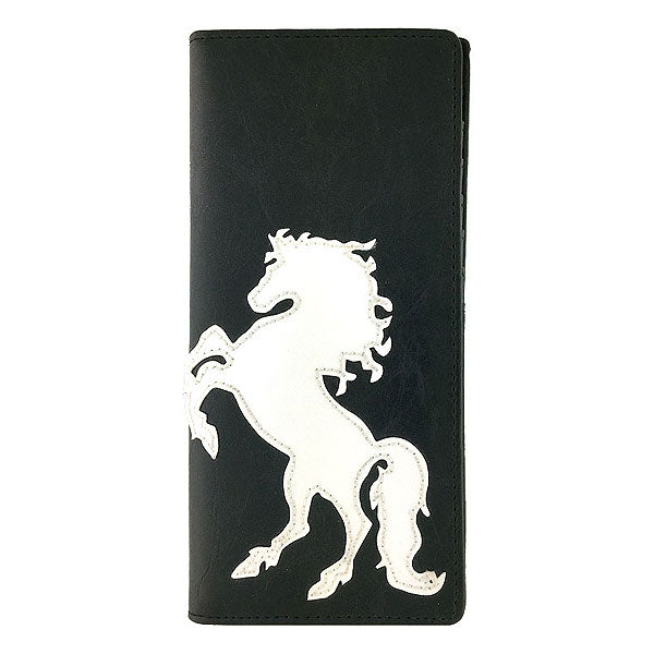 Shop PETA approved vegan brand LAVISHY's horse applique vegan/faux leather large wallet. Wholesale available at http://www.lavishy.com/lookbook/lavishy-adora-collection-look-book.htm