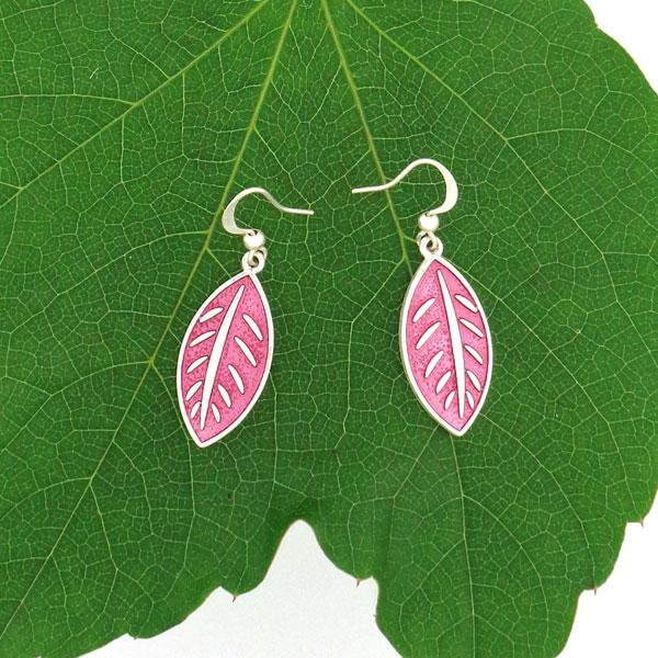 Shop LAVISHY handmade silver plated enamel leaf earrings. A great gift for you or your girlfriend, wife, co-worker, friend & family. Wholesale available at www.lavishy.com with many unique & fun fashion accessories for gift shops and boutiques in Canada, USA & worldwide.