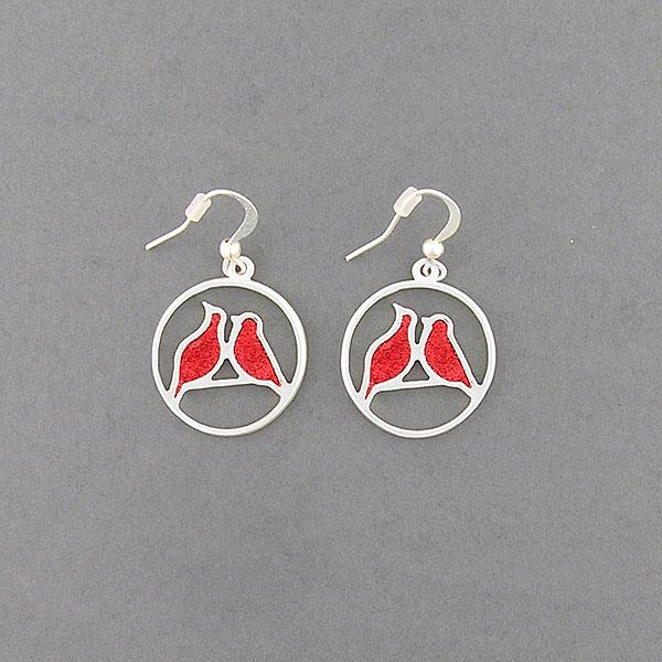 Online shopping for LAVISHY handmade silver plated enamel love birds earrings. A great gift for you or your girlfriend, wife, co-worker, friend & family. Wholesale at www.lavishy.com with many unique & fun fashion accessories for gift shops and boutiques in Canada, USA & worldwide.