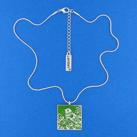 101-006: Handmade Enamel Reversible Necklace