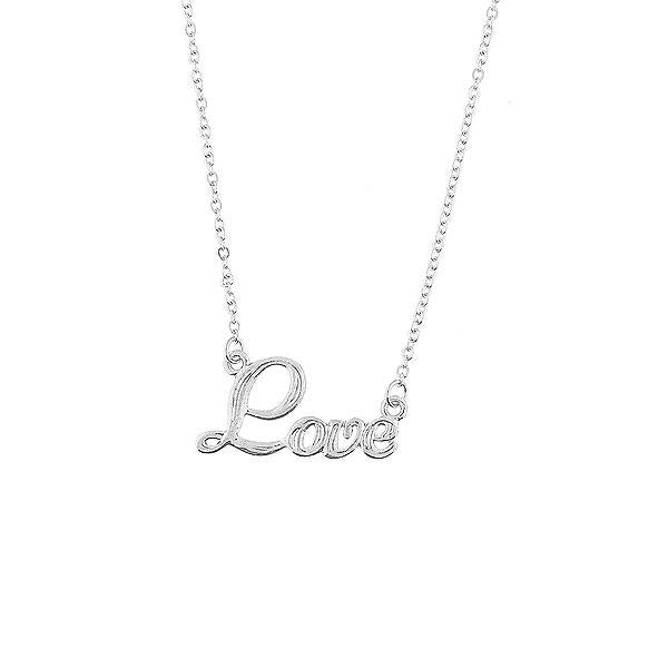 Shop LAVISHY rhodium or 12k gold plated dainty love necklace from Poco collection by LAVISHY. A playful gift for yourself or your friends & family. Wholesale available at www.lavishy.com with many unique & fun fashion accessories for gift shops, fashion accessories & clothing boutiques in Canada, USA and worldwide..