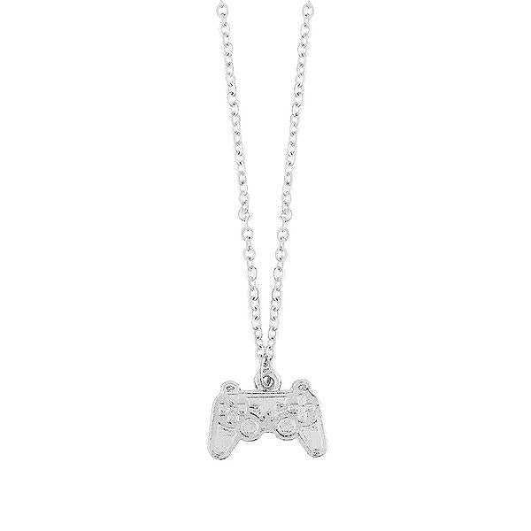 Online shopping for LAVISHY rhodium or 12k gold plated dainty retro video game console necklace. A playful gift for yourself or your friends & family. Wholesale available at www.lavishy.com with many unique & fun fashion accessories for gift shops, fashion accessories & clothing boutiques in Canada, USA and worldwide..