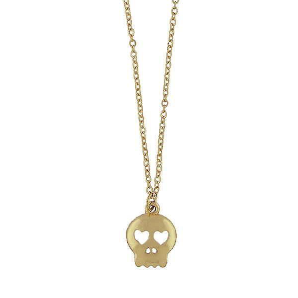 Shop LAVISHY rhodium or 12k gold plated dainty skull necklace from Poco collection by LAVISHY. A playful gift for yourself or your friends & family. Wholesale available at www.lavishy.com with many unique & fun fashion accessories for gift shops, fashion accessories & clothing boutiques in Canada, USA and worldwide..