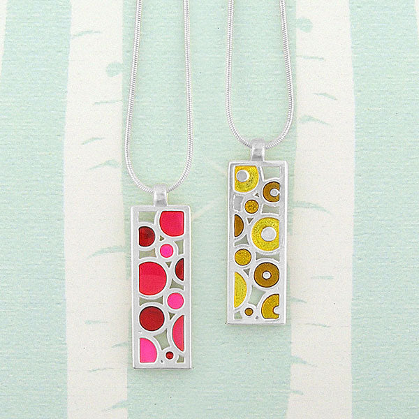 Online shopping for LAVISHY handmade silver plated reversible enamel necklace. A great gift for you or your girlfriend, wife, co-worker, friend & family. Wholesale available at www.lavishy.com with many unique & fun fashion accessories for gift shops and boutiques in Canada, USA & worldwide.