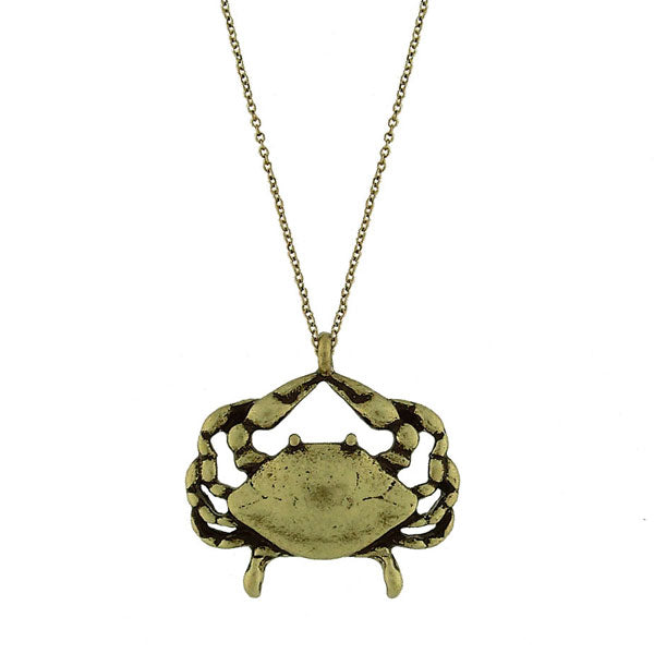 Online shopping for vintage style crab necklace from Riya collection by PETA approved vegan brand LAVISHY. Great gift for you or your girlfriend, wife, co-worker, friend & family. More fashion accessories for wholesale at www.lavishy.com for gift shop, clothing & fashion accessories boutique, book store since 2001.
