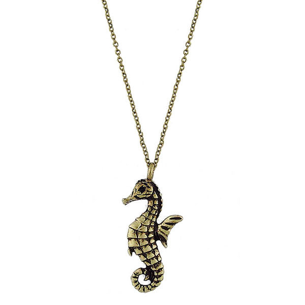 Online shopping for vintage style Seahorse necklace from Riya collection by PETA approved vegan brand LAVISHY. Great gift for you or your girlfriend, wife, co-worker, friend & family. More fashion accessories for wholesale at www.lavishy.com for gift shop, clothing & fashion accessories boutique, book store since 2001.