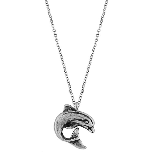 Online shopping for vintage style Dolphin necklace from Riya collection by PETA approved vegan brand LAVISHY. Great gift for you or your girlfriend, wife, co-worker, friend & family. More fashion accessories for wholesale at www.lavishy.com for gift shop, clothing & fashion accessories boutique, book store since 2001.