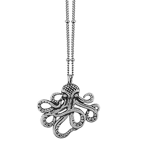 Online shopping for vintage style Octopus necklace from Riya collection by PETA approved vegan brand LAVISHY. Great gift for you or your girlfriend, wife, co-worker, friend & family. More fashion accessories for wholesale at www.lavishy.com for gift shop, clothing & fashion accessories boutique, book store since 2001.