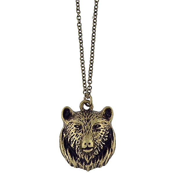 Online shopping for vintage style Bear necklace from Riya collection by PETA approved vegan brand LAVISHY. Great gift for you or your girlfriend, wife, co-worker, friend & family. More fashion accessories for wholesale at www.lavishy.com for gift shop, clothing & fashion accessories boutique, book store since 2001.