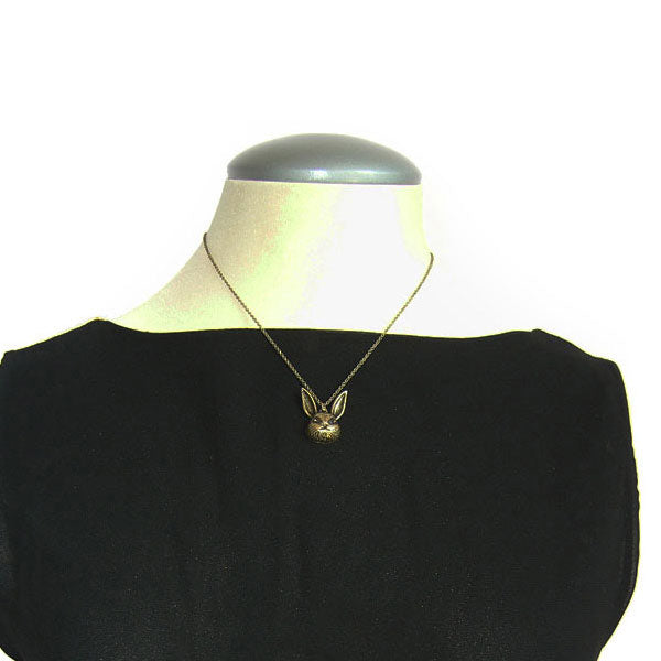 Online shopping for vintage style Rabbit necklace from Riya collection by PETA approved vegan brand LAVISHY. Great gift for you or your girlfriend, wife, co-worker, friend & family. More fashion accessories for wholesale at www.lavishy.com for gift shop, clothing & fashion accessories boutique, book store since 2001.