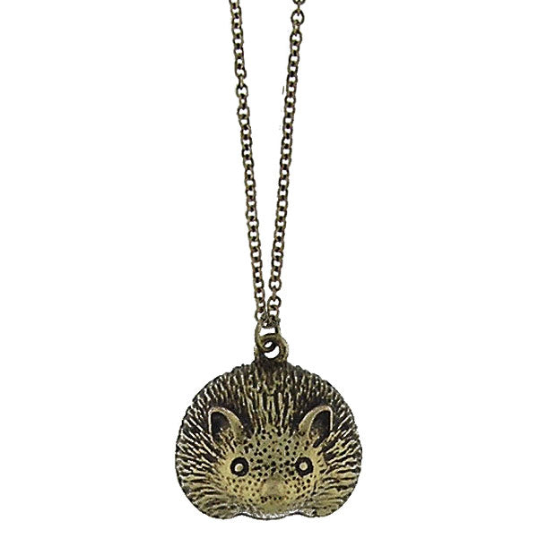Online shopping for vintage style Hedgehog necklace from Riya collection by PETA approved vegan brand LAVISHY. Great gift for you or your girlfriend, wife, co-worker, friend & family. More fashion accessories for wholesale at www.lavishy.com for gift shop, clothing & fashion accessories boutique, book store since 2001.