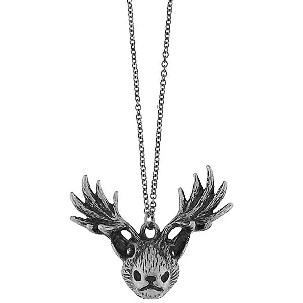 Online shopping for vintage style Moose necklace from Riya collection by PETA approved vegan brand LAVISHY. Great gift for you or your girlfriend, wife, co-worker, friend & family. More fashion accessories for wholesale at www.lavishy.com for gift shop, clothing & fashion accessories boutique, book store since 2001.