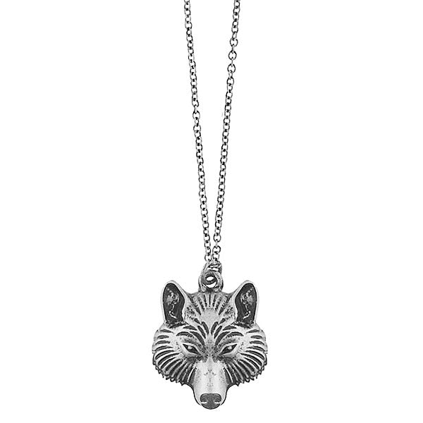 Online shopping for vintage style Wolf necklace from Riya collection by PETA approved vegan brand LAVISHY. Great gift for you or your girlfriend, wife, co-worker, friend & family. More fashion accessories for wholesale at www.lavishy.com for gift shop, clothing & fashion accessories boutique, book store since 2001.