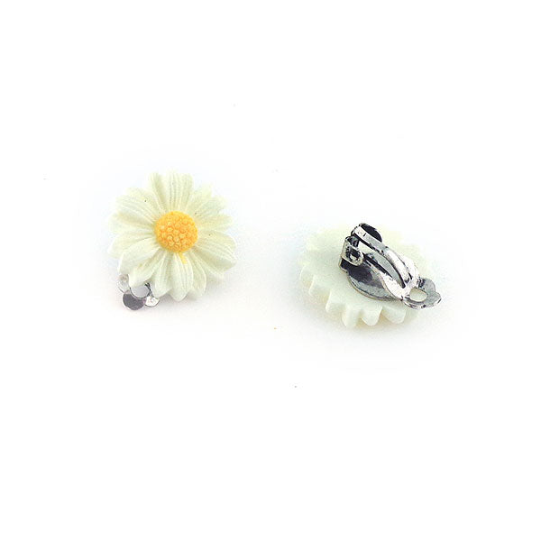 Shop LAVISHY's lovely & affordable silver or 12k gold plated resin Daisy flower earrings. A great gift for you or your girlfriend, wife, co-worker, friend & family. Wholesale available at www.lavishy.com with many unique & fun fashion accessories.