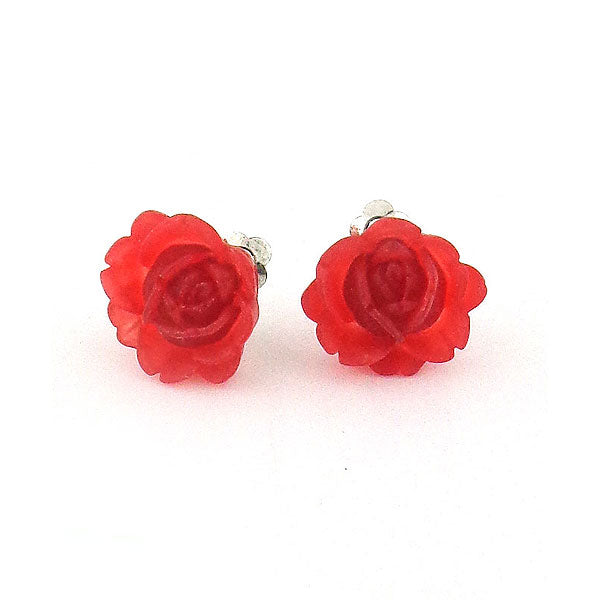 Shop LAVISHY's lovely & affordable silver or 12k gold plated resin Peony flower earrings. A great gift for you or your girlfriend, wife, co-worker, friend & family. Wholesale available at www.lavishy.com with many unique & fun fashion accessories.